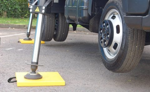 Hi-Viz Outrigger Pad for Van Mounted Platform